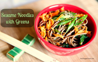 Sesame Noodles with Greens