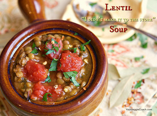 "Lentil ""I didn't make it to the store"" Soup"