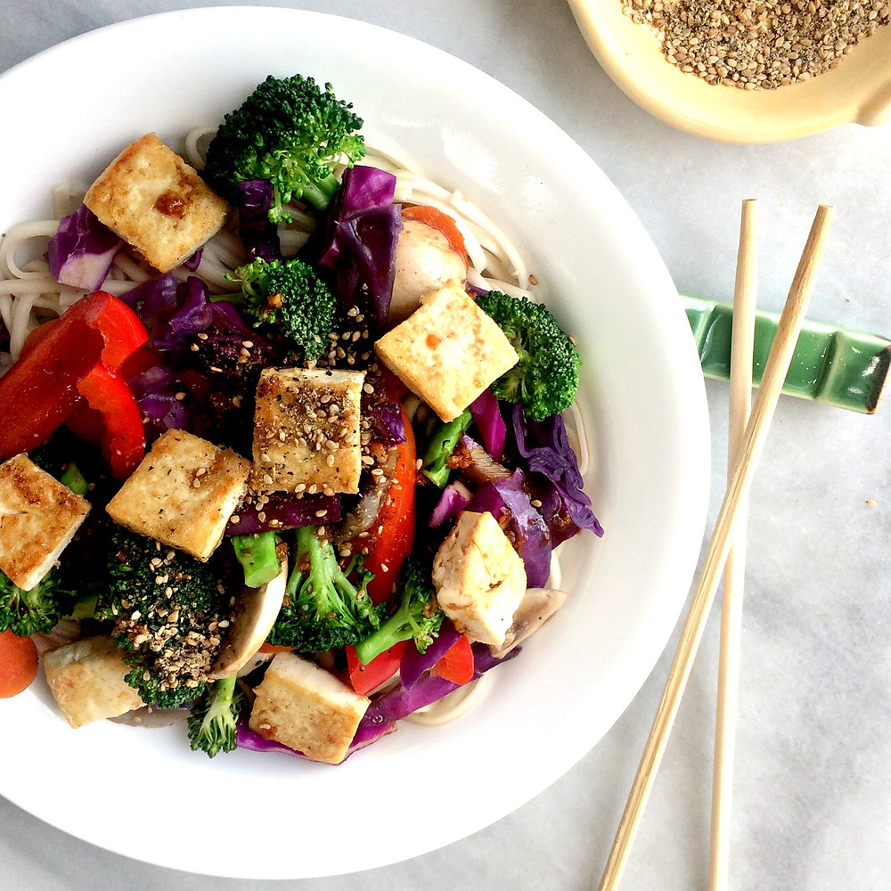 Rainbow Tofu Vegetable Stir Fry