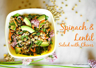 Spinach & Lentil Salad with Chives