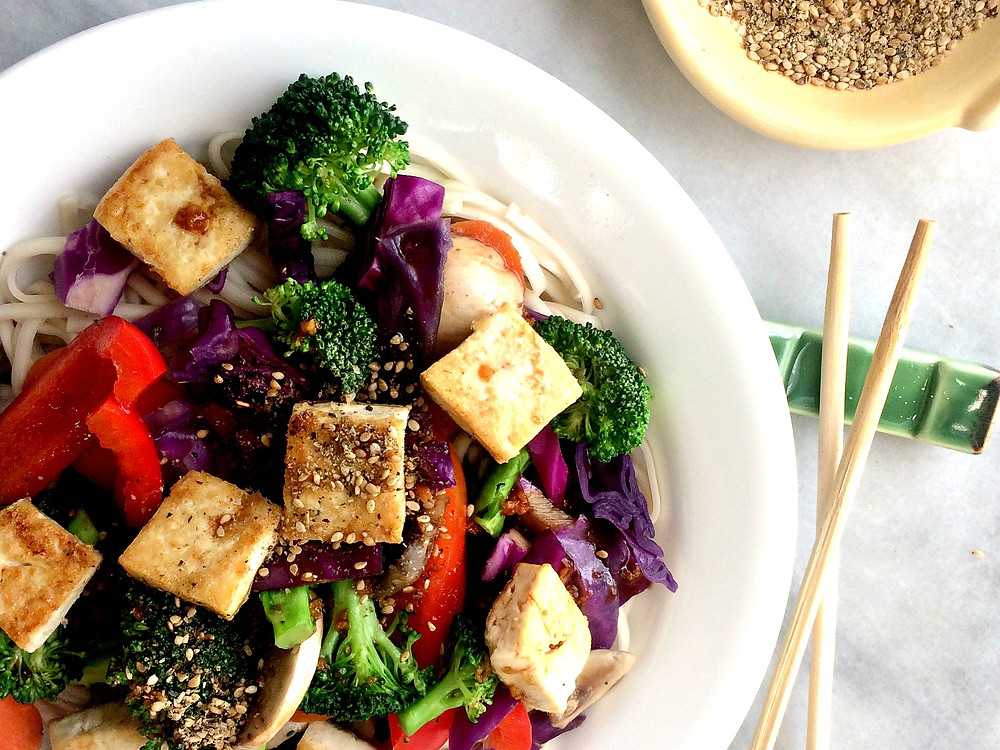 Rainbow Tofu Vegetable Stiry Fry