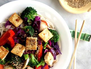 Rainbow Tofu Vegetable Stir Fry