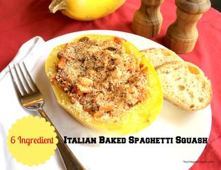 6 Ingredient Italian Baked Spaghetti Squash