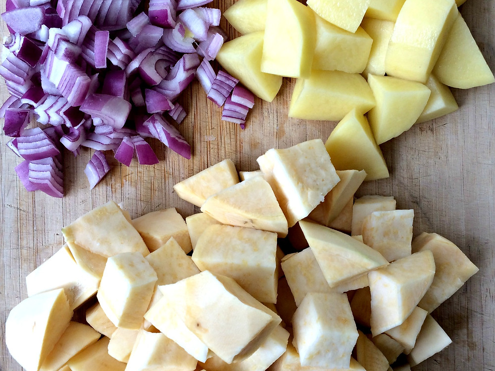 Rutabaga Fondue Ingredients