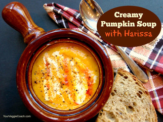 Creamy Pumpkin Soup with Harissa