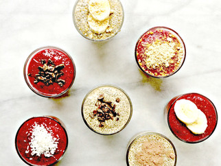 Raspberry and Peanut Butter Chia Puddings