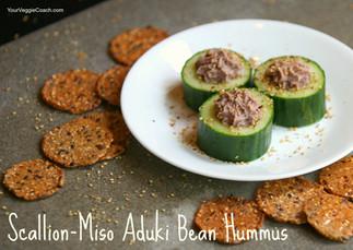 Scallion-Miso Aduki Bean Hummus