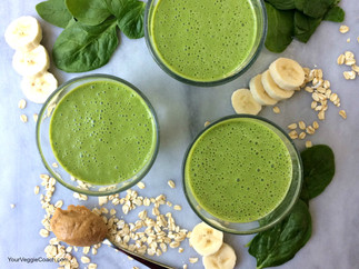 Peanut Butter Banana (Green) Smoothie
