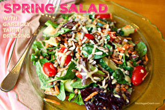 Spring Salad with Garlicky Tahini Dressing