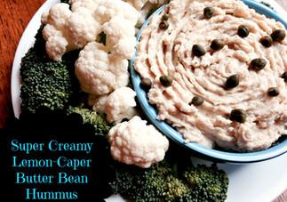 Super Creamy Lemon-Caper Butter Bean Hummus