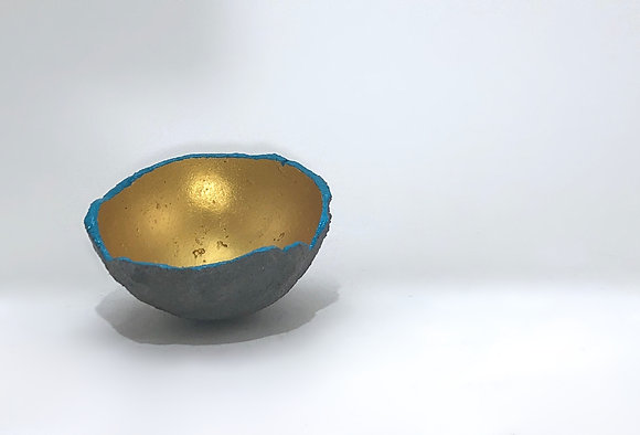 "Hand-cast Concrete Bowl (4"" diameter)"