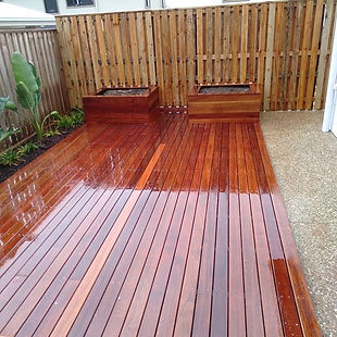 New deck and landscaping for a brand new