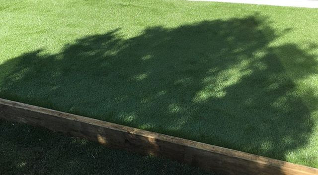 Artificial turf! Used to keep the entry