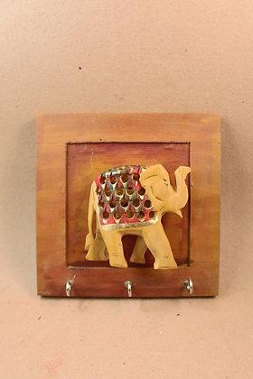 Wooden Key Hanger Frame ;  ( Elephant Embossed ) PRODUCT CODE - 0174
