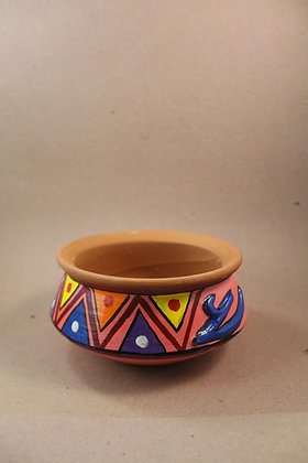 Terracotta Serving Dish Painted PRODUCT CODE - 0155