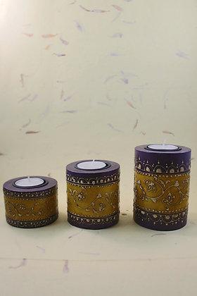 Wooden Tea Light Antique Finish  PRODUCT CODE - 0212