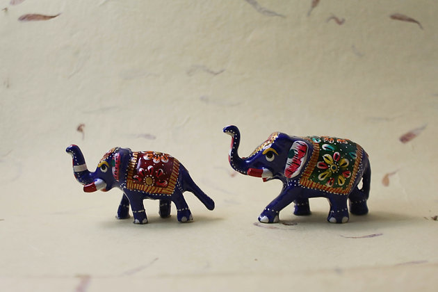 Metal Elephant Painted  PRODUCT CODE - 0163