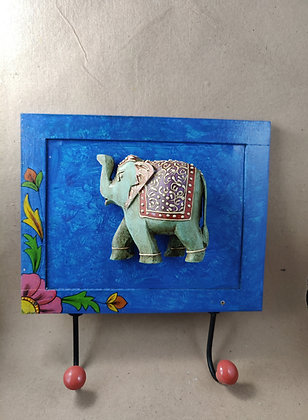 Wooden Elephant / Camel  Embossed Painted Wall Coat Hanger PRODUCT CODE - 0319