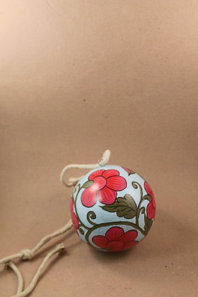 Paper Mache Sphere Hanging Painted  PRODUCT CODE - 0151