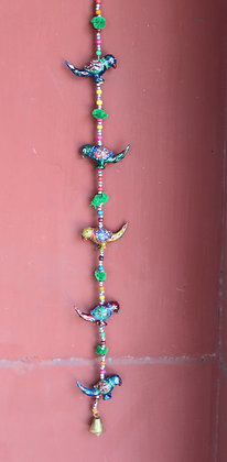 Resin 5 Parrots Hanging PRODUCT CODE - 0132