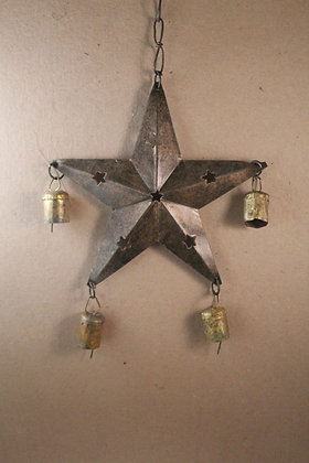 Iron Star w/ bells Hanging PRODUCT CODE - 0288