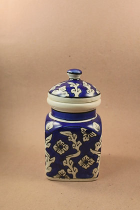 Blue Pottery Storage Jar  PRODUCT CODE - 0234