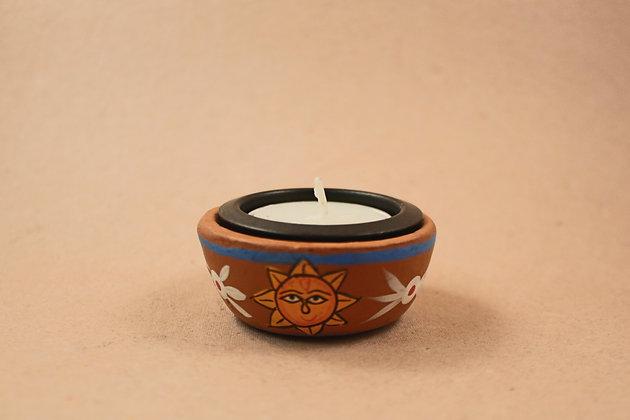 TerraCotta Tea Light Painted   PRODUCT CODE - 0206