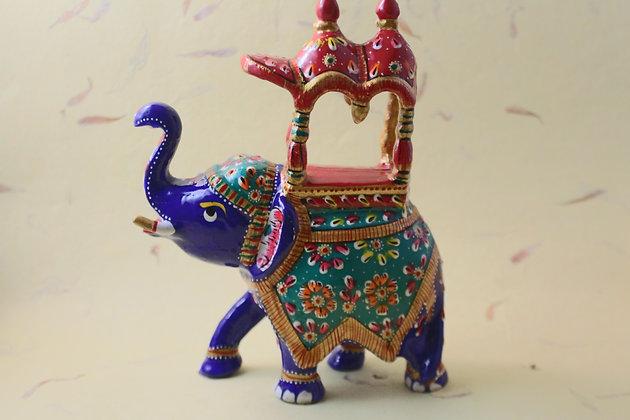 Metal Elephant Ambawadi Painted  PRODUCT CODE - 0159