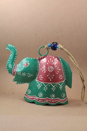 Iron Elephant Bell Hanging Painted PRODUCT CODE - 0296