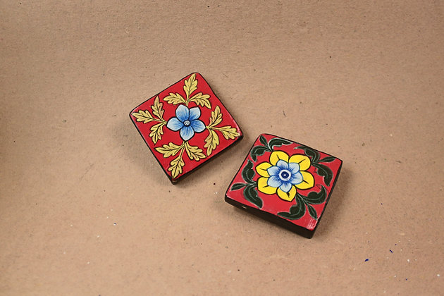 Paper Mache Square Wall Tiles  PRODUCT CODE - 0152