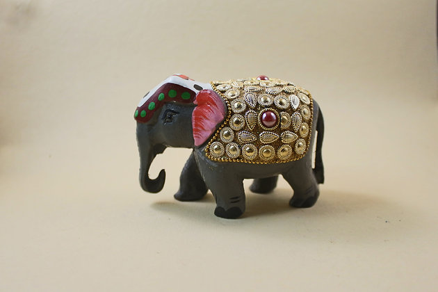 Wooden Elephant Figure Work Painted  PRODUCT CODE - 0119
