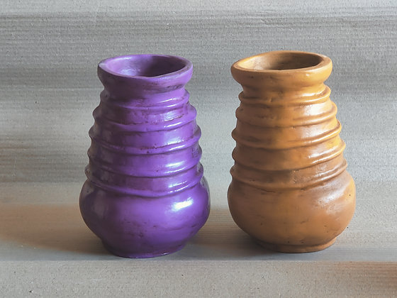 Terracotta Vase Painted PRODUCT CODE - 0337