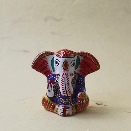 Metal Ganesha Painted  PRODUCT CODE - 0160