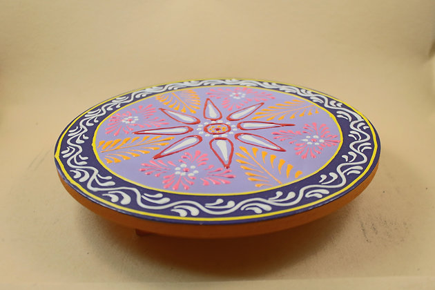 Wooden Miniature Stool Round / Square ( Embossed Painted ) PRODUCT CODE - 0191