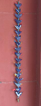 Printed Cloth 18 Birds Hanging ( Indigo Print) PRODUCT CODE - 0143