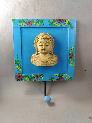 Wooden Lord Buddha / Ganesha Figure Wall Coat Hanger Painted PRODUCT CODE - 0318