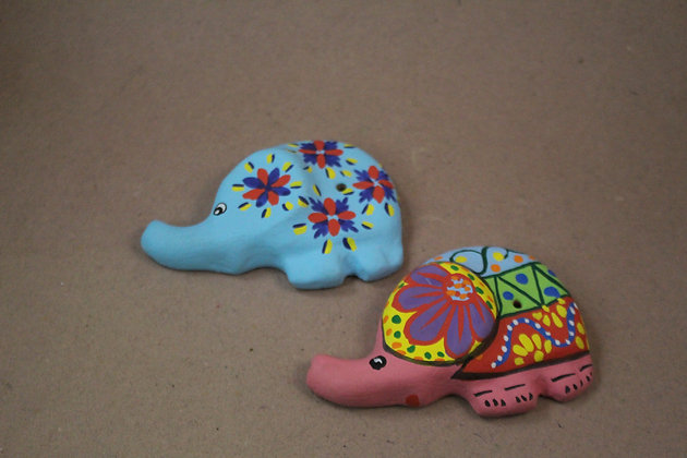 Elephant Paper Mache Incense stick holder PRODUCT CODE - 0275