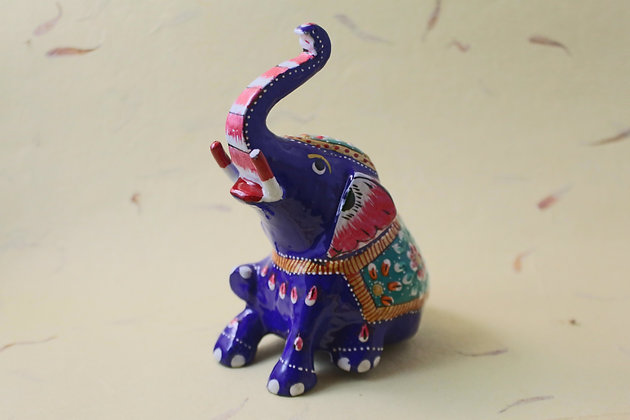 Metal Baby Elephant Painted  PRODUCT CODE - 0157