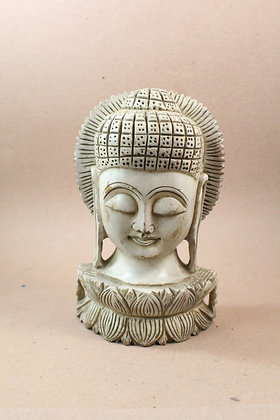 Wooden Lord Buddha Head Antique Finish PRODUCT CODE - 0300