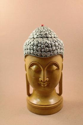 Wooden Buddha Head Figure Work  PRODUCT CODE - 0106