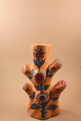 Paper Mache Toothbrush / Pen / Flower Holder Painted  PRODUCT CODE - 0245