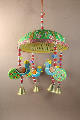 Wooden 4 Peacock Painted w/ Umbrella PRODUCT CODE - 0308