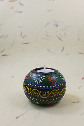 Wooden Tea Light Painted  PRODUCT CODE - 0210