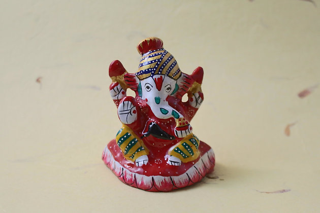 Metal Ganesha Painted  PRODUCT CODE - 0161