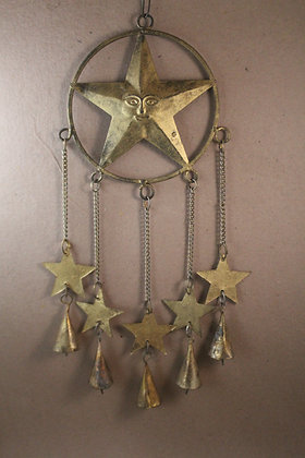 Iron Star + 5 Star gold Hanging PRODUCT CODE - 0289