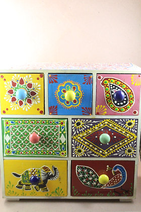Wooden Hand Painted Drawers PRODUCT CODE - 312