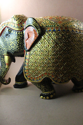 """Wooden Elephant Big ( 12 """" )  Fine Painted  PRODUCT CODE - 0264"""