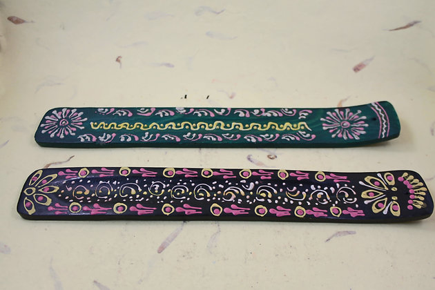 Wooden Incense Stick Holder Painted / Mosaic Work  PRODUCT CODE - 0208