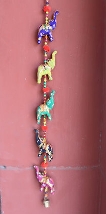 Printed Cloth 5 Small Elephants Hanging ( Glossy ) PRODUCT CODE - 0135