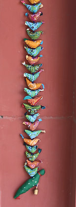 Printed Cloth 20 Birds + Parrot Hanging  PRODUCT CODE - 0141